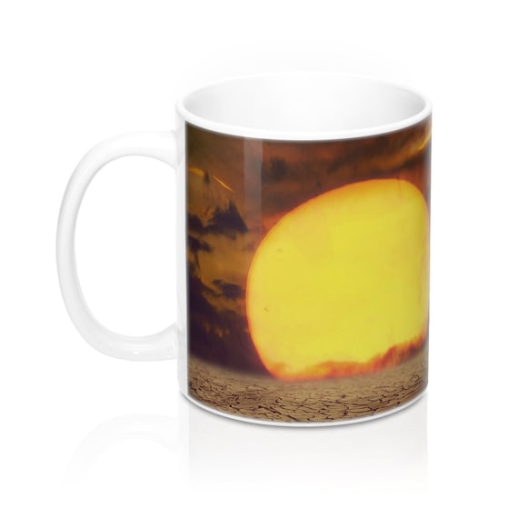 graphic about Printable Mugs identified as Sunset Flower Ceramic Mugs Present Printable