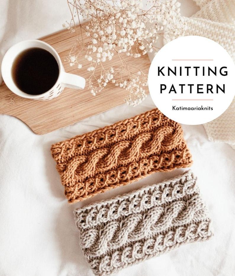 Kielo Headband Knitting Pattern // Cable Headband // Chunky image 0