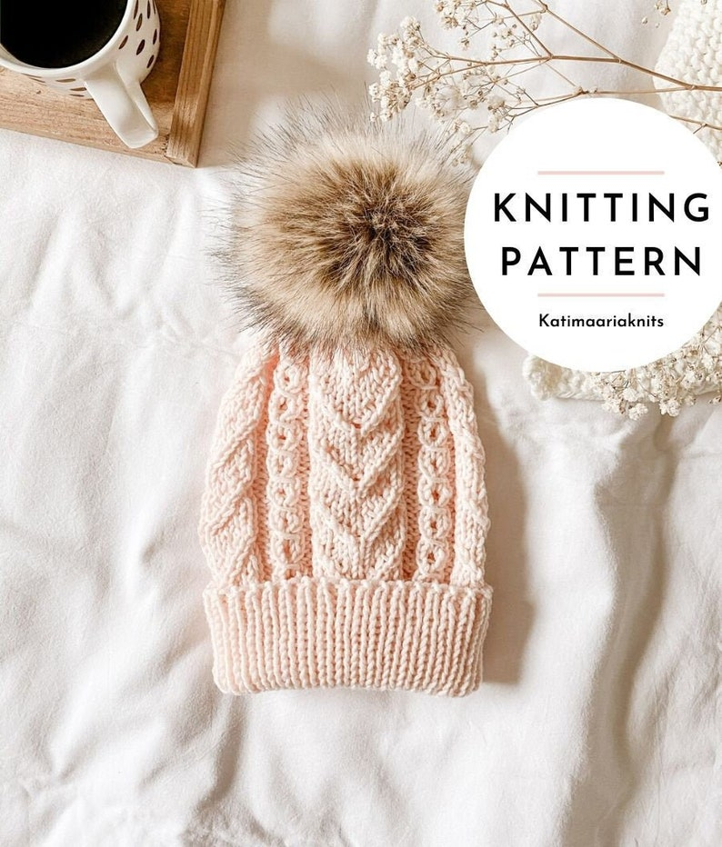 Tuomi Beanie Knitting Pattern // Cable Beanie // Chunky Cable image 0