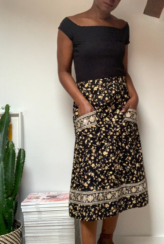 Vintage Prairie Skirt with Front Pockets / Jupe Pr