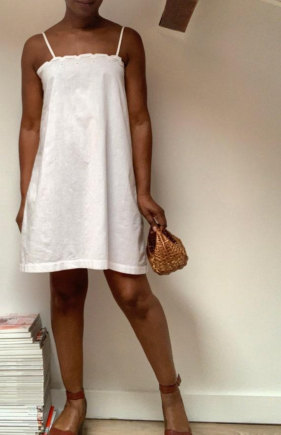 Antique 1900's Cotton Slip Dress / Vintage Slip Dr