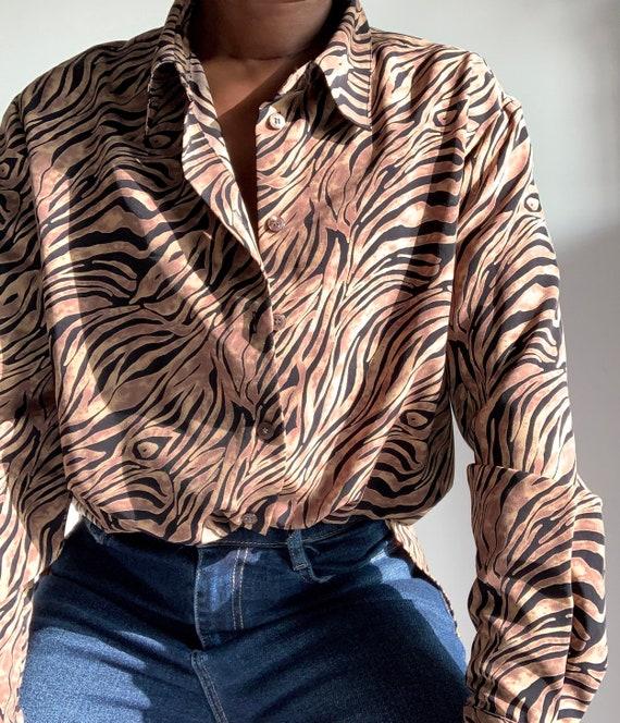 Vintage Zebra Print Shirt