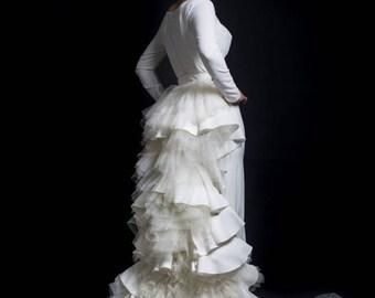 Train couture wedding dress