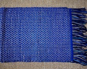 Scarf Purple * hand woven wool and Angora