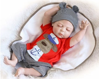 Baby Reborn Handmade Silicone Custom Newborn Baby Boy with realistic  features 17 - 20 inch long full silicone body a4d0c85d46