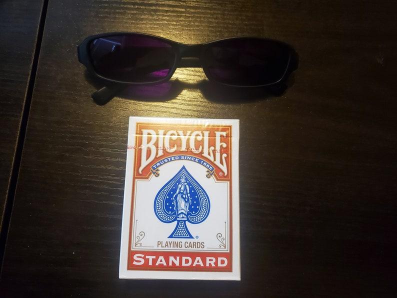 Handmade Infrared UV Black Plastic Sunglasses or infrared image 0