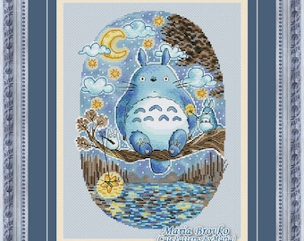 """Cross Stitch Pattern """"Watercolor Forest Spirit"""" DMC Cross Stitch Chart Needlepoint Pattern Embroidery Chart Printable PDF Instant Download"""