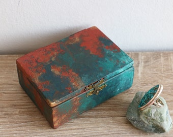 Verdigris Mermaid Box