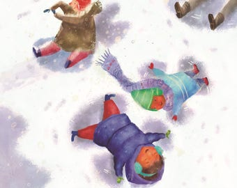 Snow Angels - When the Snow Falls - Framed Prints from the acclaimed children's book