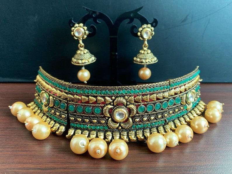 Clearance sale!! Choker with matching jhumka Indian Jewellery