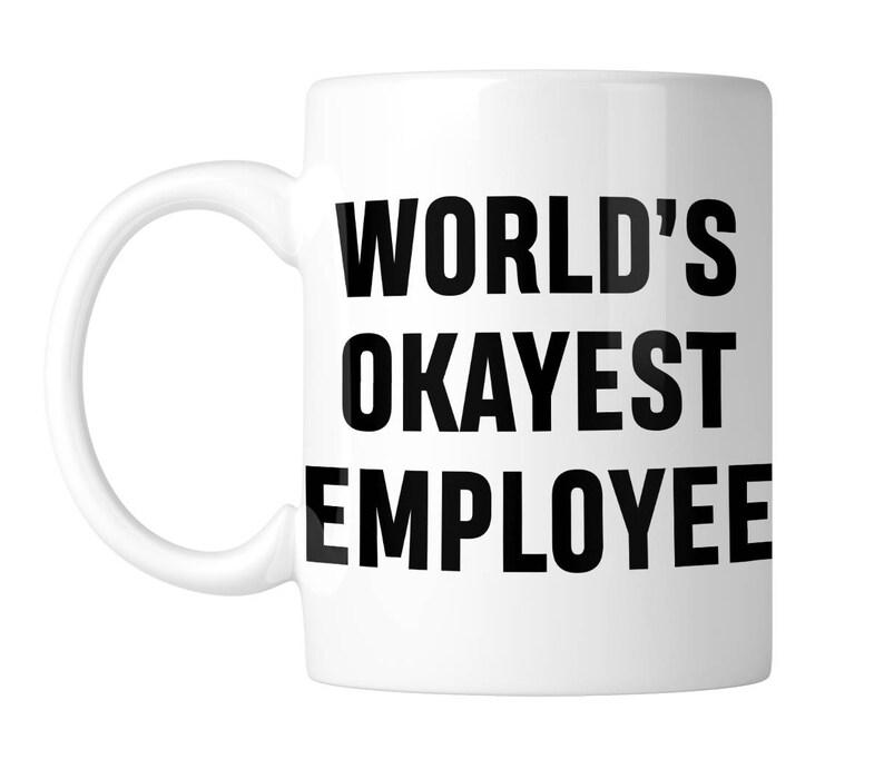 b8e3ab5fa00 World's Okayest Employee Funny 11 oz. Coffee Mug