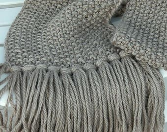 Hand Crocheted  Scarf (made to order colors available)