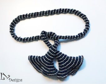 Ring a Ding Ding Lariat / Necklace Seed Bead Tutorial. A Learn with Lou Tutorial / Pattern.