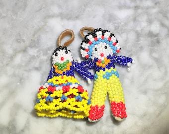 Vintage Native American Beaded Doll Set