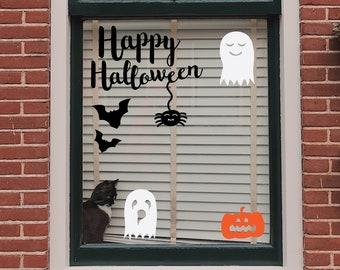 Halloween Trail 2020 Window Decoration - Print Cut Out - Download - Clip art - Clipart - Digital - Cute Pumpkin Ghost Bat Spider