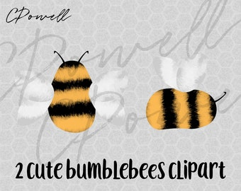 2 Cute Bumblebees Bumblebee Bumble Bee Bees Clipart, PNG 300 dpi