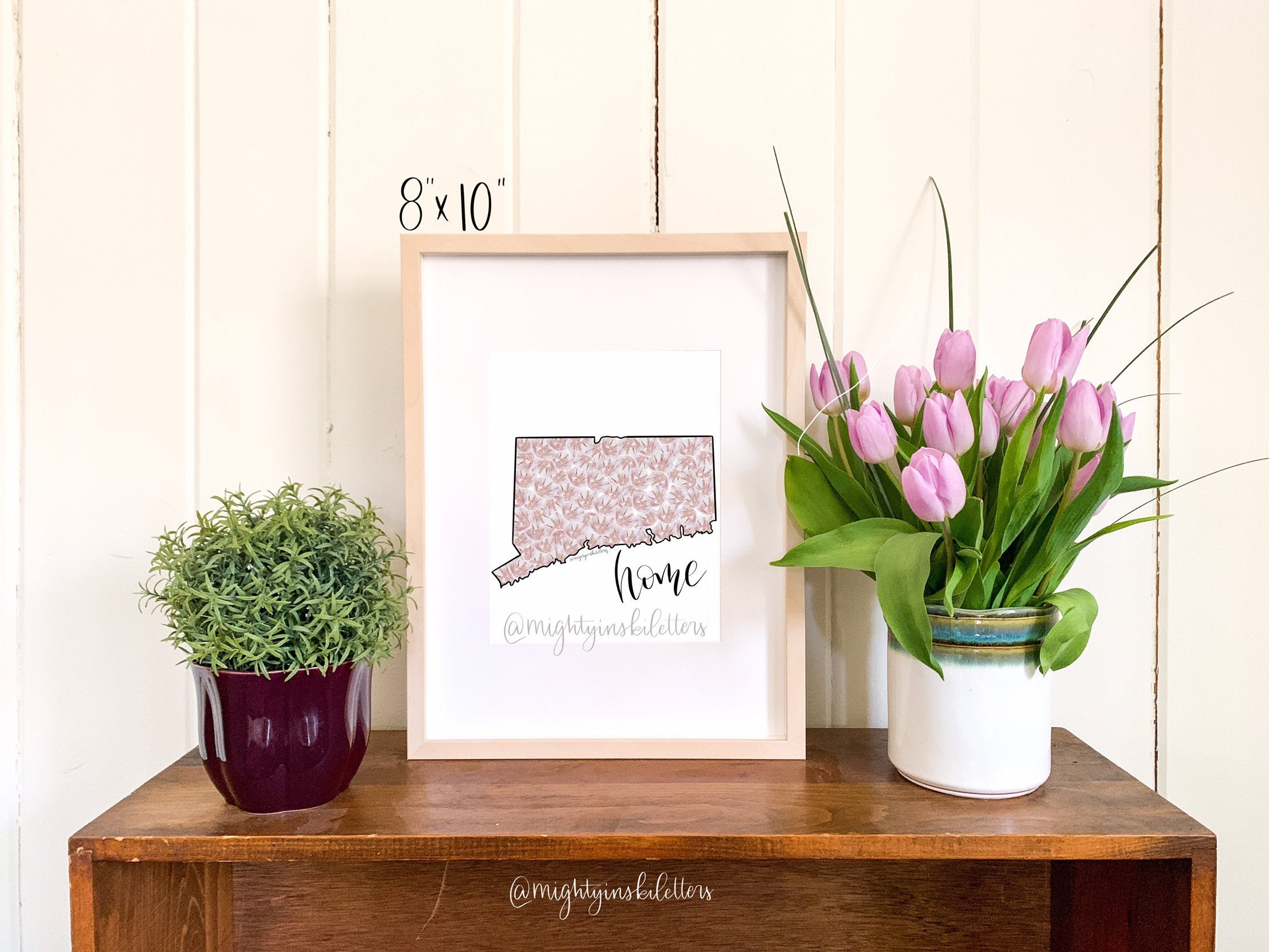 Connecticut Home Print State Flower Print Mountain Laurel Etsy