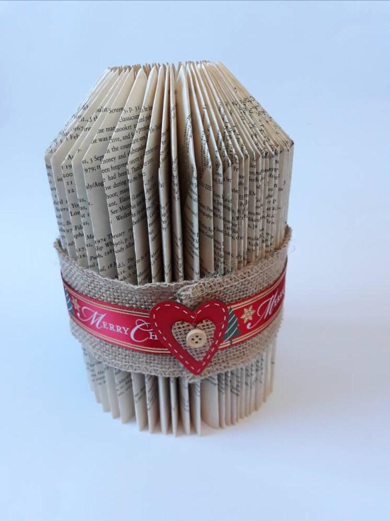 Book fold tea light holder