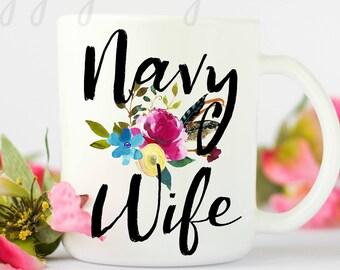 Navy Wife Gift/Navy Wife Mug/Navy Wife deployment coffee mug/deployment gift/deployment survival gift/Coffee Mug/Cute Mug/Anchor Mug