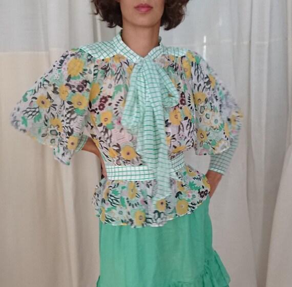 ossie clark bluse mit celia birtwill print