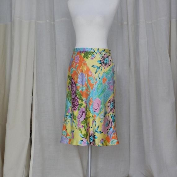 kenzo vintage silk skirt