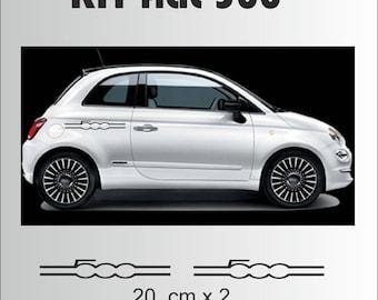 Kit Stickers sticker signature Fiat 500 x 2