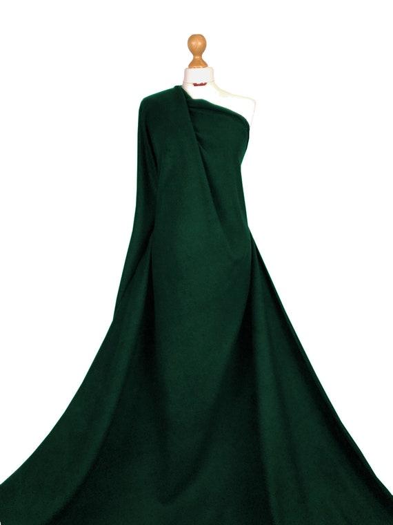 BOTTLE GREEN Polar fleece soft fabric material antipill 150cm TOP QUALITY