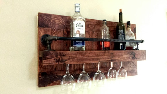 ****NEW RUSTIC WINE RACK****6 bottle 4 glass,wallmounted,bar,quality hand made!