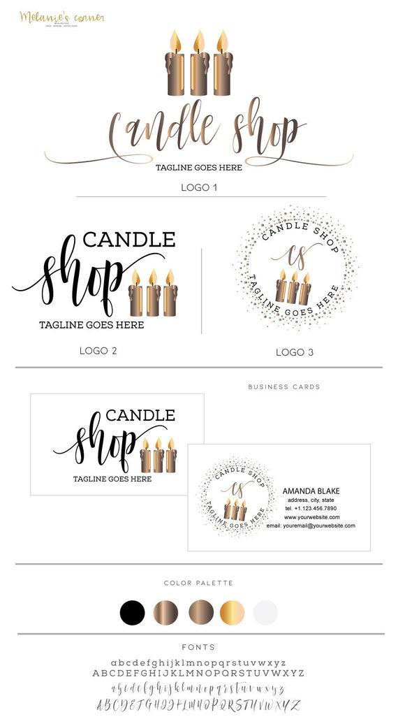 Logo Design Candle Logo Design Aromatherapy Logo Scents Logo Etsy