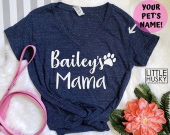 454788382 Dog Mama Shirt with Your Pet's Name or Names - Dog Mom Shirt - Custom Dog  Shirt - Dog Lover - Custom Pets Name Tee - Customize Dog T Shirt