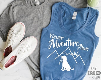 Adventure Squad Dog Shirt Personalized with YOUR Pet/'s Breed Shape Adventures with My Dogs Hiking with Dogs Dog Hiking Custom T Shirt