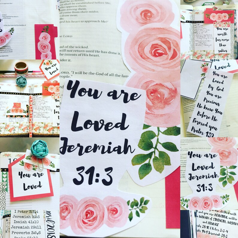 Bible Journaling - Encouraging Words for Women Digital  Print and Cut file