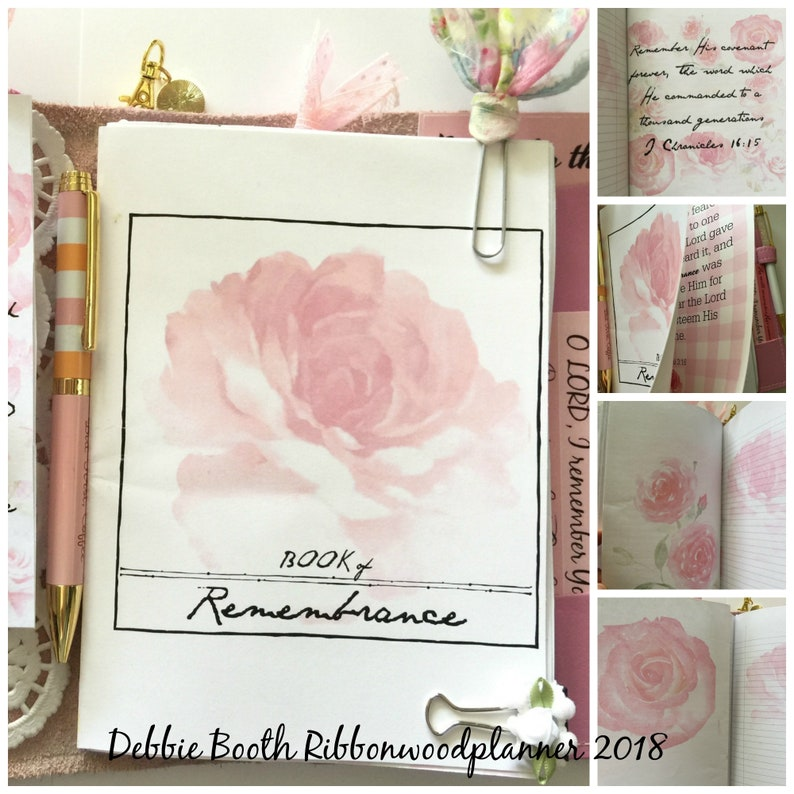 Book of Remembrance B6 Travelers Notebook Digital Print image 0