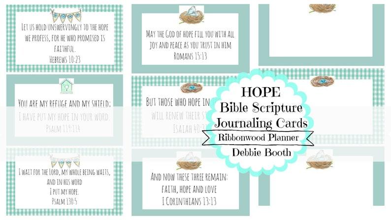HOPE - Bible Planner Journaling Cards Digital Download