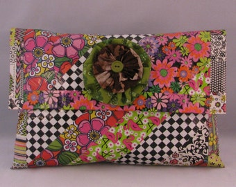 Handmade Clutch Purse,  Handmade Clutch Bag,  Chic Clutch,  Eclectic Handbag,  Funky Clutch Purse, One of a Kind Clutch, Unique Clutch,