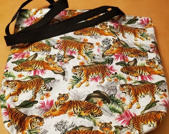 Dragon ToteBeautiful Fabric ToteFully linedlarge inner pocketgift for adultgift for womengift for nerdready to ship