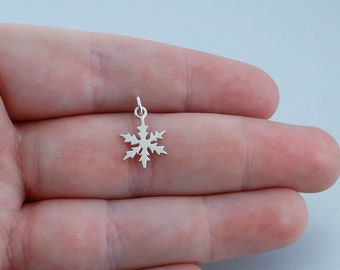 Sterling Silver Snowflake Charm New Pendant