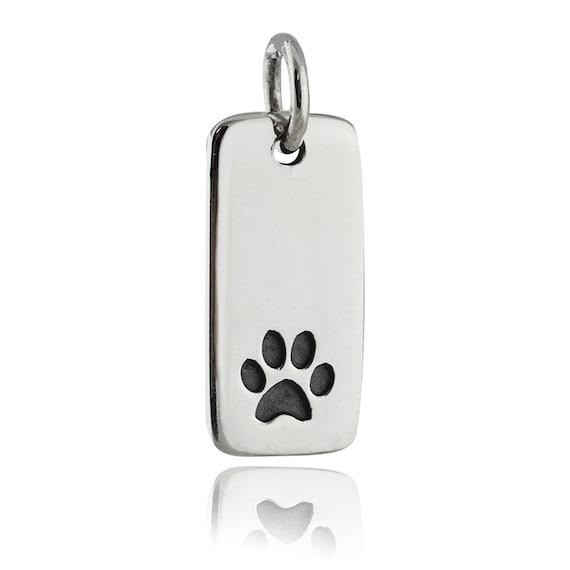 28 Sterling Silver I Love My Dog Bone Dangle Charm Bead Ref: