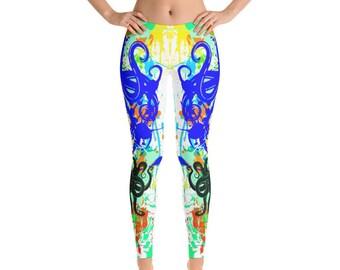 b08a1cf25801c Leggings with Octopus Print Tentacle Leggings Mermaid Printed Leggings  Festival Clothing FlyDesignStore
