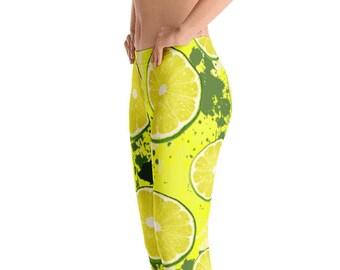 fcd139baf Lemon Leggings Citrus Leggings Yellow Leggings Yoga Pants Yoga Leggings  Woman Workout Tights Quality Leggings FlyDesignStore