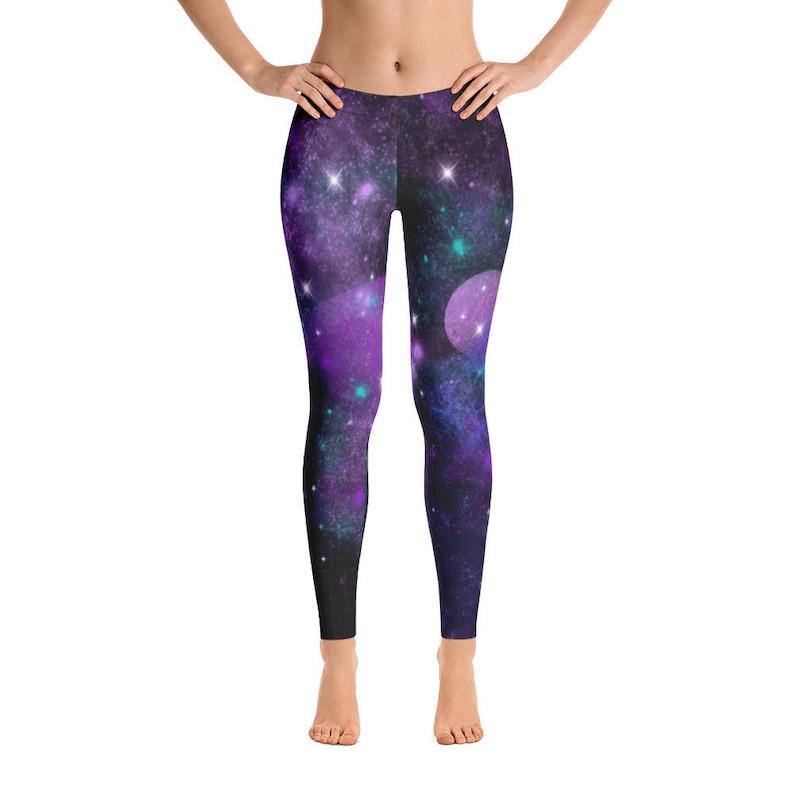 Women/'s Space Galaxy Planet Cosmic Leggings Stars Leggings Yoga Leggings Womens Leggings Quality Leggings FlyDesignStore