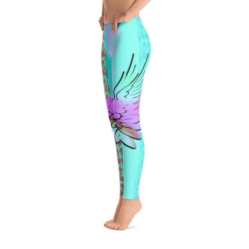 Leggings Yoga Pants Wing Leggings Yoga Leggings Artwork Leggings Womens Leggings Quality Leggings Gift for her FlyDesignStore