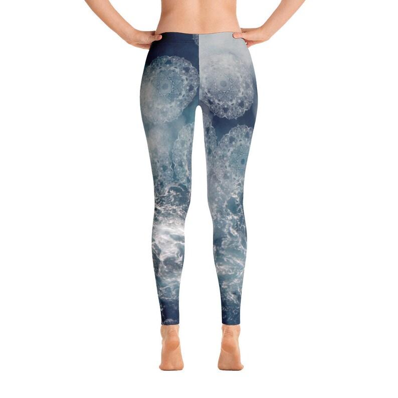 Mandala Yoga Clothing Sacred Geometry PSY Trance Leggings \u041cagnetic Storm Pants Fractals Stretch Pants Zen Yoga Pants FlyDesignStore