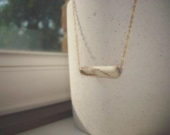 Broken clay pipe stem pendant gold filled necklace from river Thames mudlark mudlarking London
