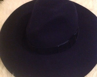 WYeth navy wool floppy hat 3ffc1b4cd7c6