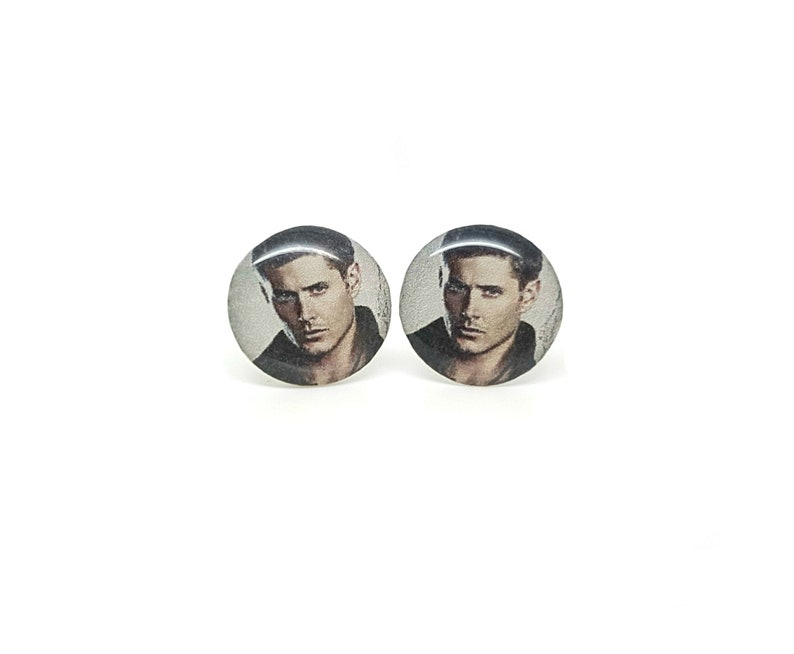 Dean Winchester Supernatural Stud Earrings / Jensen Ackles Resin Gift for  Her Demons Angels wing Castiel Cosplay Statement Jewelry For Geeks