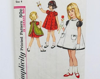 Vintage Simplicity little girl's dress pattern