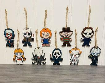 Halloween Ornament Horror Movie , Halloween Decoration, Halloween ornament, fall decoration, Horror movie characters