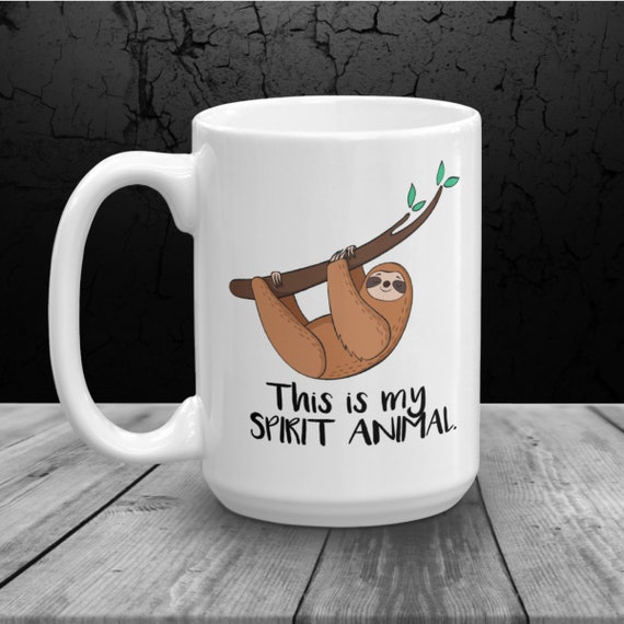 Sloth Personalized Spirit Animal Gift For Her Coffee Mug