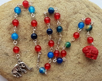 Ganesha Prayer Beads, Pagan Prayer Beads, God Ganesha, Pagan Deity Prayer Beads, Hindu Pagan, Wiccan Prayer Beads, Meditation Beads, Ganesh
